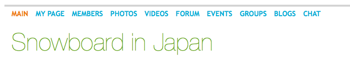snowboard in japan social network